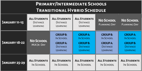 primary/intermediate transitional hybrid schedule